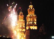 Iluminación de la catedral de Morelia
