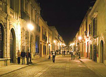 Downtown Oaxaca After Dark