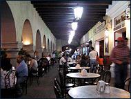 Portales de Oaxaca de Noche