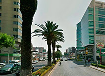 Avenida Juárez en Puebla