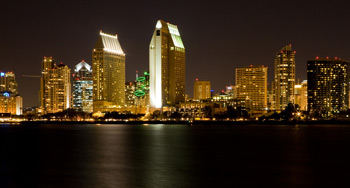 Nightlife in San Diego, California, USA