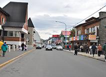 Avenida San Martín en Ushuaia