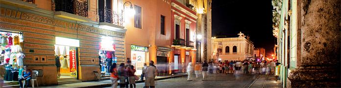 Vida nocturna en Mérida