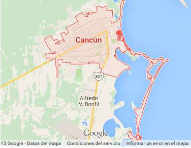 cancun mapa Mapas de Cancún y México | Cancun Online.com cancun mapa