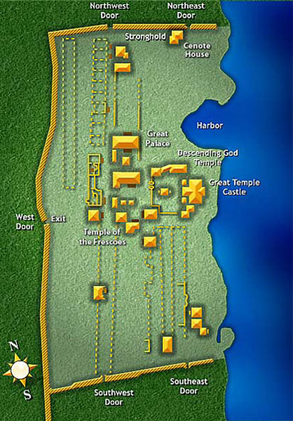 Map of the Maya Ruins in Tulum