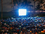 Film projection at the Film Festival in Los Cabos