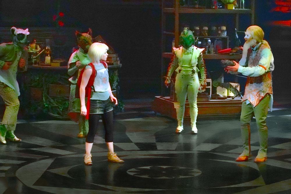 Actores en el espectáculo de Cirque du Soleil