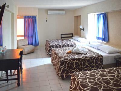 Habitaciones en el hotel col n m rida m xico for Habitaciones conectadas hotel