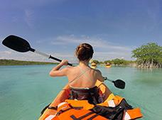 Kayak in Bacalar Tour