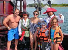 Pirate Ship Snorkel, Party and Lunch